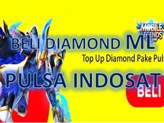 Cara beli Diamond Mobile Legends pakai pulsa Indosat