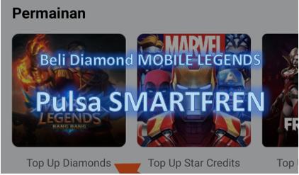 Cara beli diamond Mobile Legends pakai pulsa Smartfren