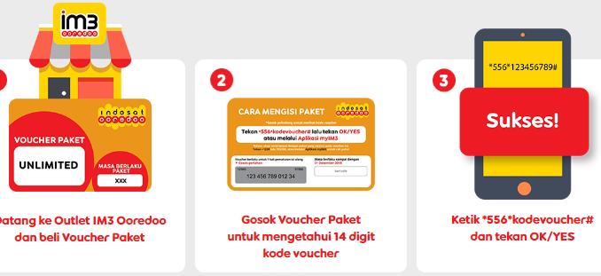 Cara memasukkan kode voucher Indosat terbaru 2020