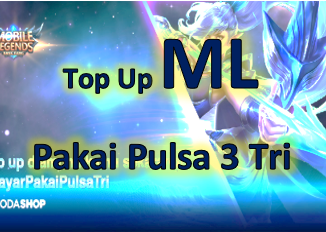 Cara top up Mobile Legends Pakai pulsa 3 Tri