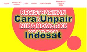 Cara unpair Indosat