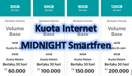 Kuota Internet Midnight Smartfren 2020 Lengkap Tumoutounews
