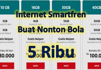 Paket kuota internet dari Smartfren bisa menjadi pilihan terbaik Anda untuk streaming bola