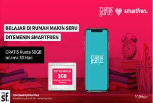Belajar di rumah dengan kuota edukasi Smartfren gratis