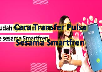 Cara mengirim pulsa ke sesama Smartfren terbilang mudah saja