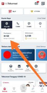 Kuota edukasi Telkomsel sudah aktif