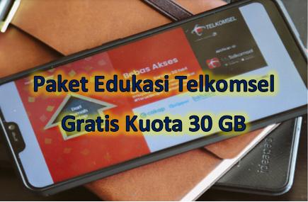Paket edukasi Telkomsel adalah paket kuota 30 GB yang bisa didapatkan secara gratis melalui aplikasi MyTelkomsel