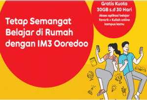 Cara mendapatkan paket kuota Edukasi Indosat 30 GB secara gratis