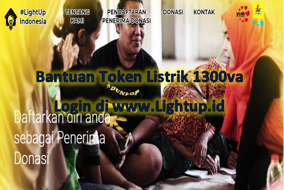 Cara mendapatkan token listrik gratis 1300va dengan login di www.Lightup.id
