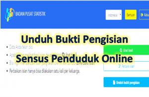 Cara download bukti pengisian sensus online cukup mudah