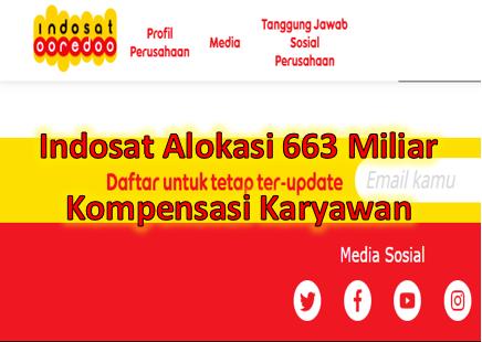 Indosat mengalokasikan Rp663 miliar sebagai biaya kompensasi bagi karyawan yang terkena PHK reorganisasi perusahaan.