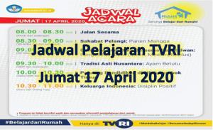 Jadwal Pelajaran TVRI Jumat 17 April 2020 Lengkap Soal Jawaban