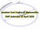 Kunci jawaban soal Lingkaran Matematika SMP 23 April 2020 di TVRI