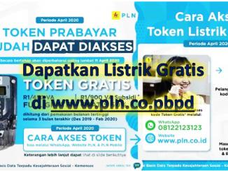 Listrik Gratis di www.pln.co.pbpd Sudah Lancar Diakses