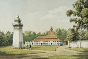 Masjid Agung Banten pada tahun 1880-an (Wikimedia Commons)