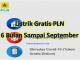 Cara Mendapatkan Listrik Gratis PLN 6 Bulan Sampai September