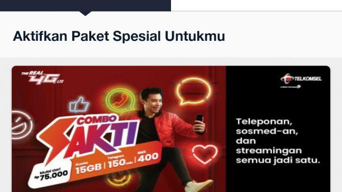 Paket Combo Sakti Telkomsel Murah Mei 2020, Kuota 70GB dari 80Rb