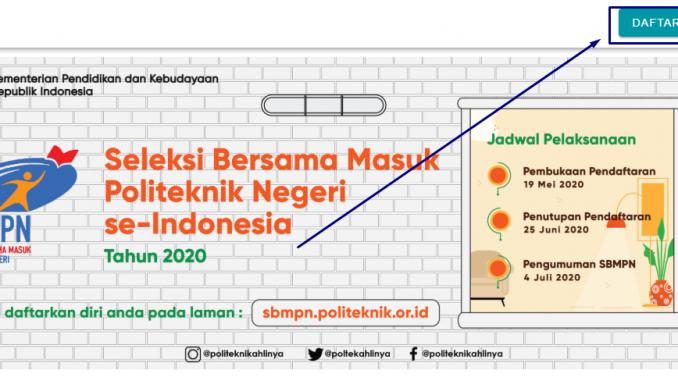 Daftar SBMPN Politeknik 2020 LOGIN sbmpn.politeknik.or.id