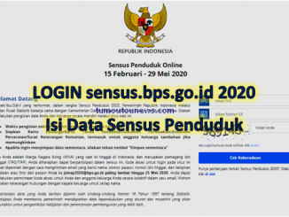 LOGIN sensus.bps.go.id 2020, Isi Data Sensus Penduduk Online