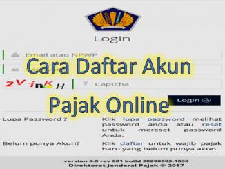 Cara Daftar Akun Pajak Online