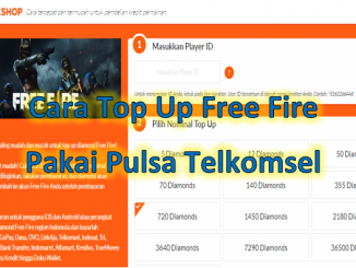 Cara top up Free Fire Pakai Pulsa Telkomsel