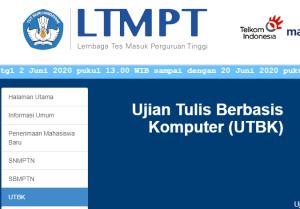 Login portal.ltmpt.ac.id, Pendaftaran UTBK SBMPTN 2020