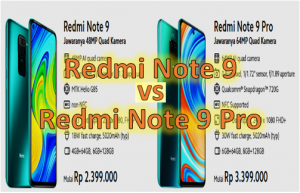 Redmi Note 9 vs Redmi Note 9 Pro