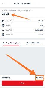 Paket Internet Ceria 4G via Aplikasi MyTelkomsel