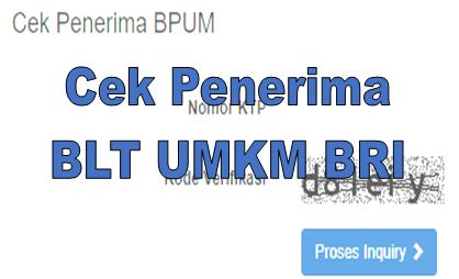 Cek Penerima BLT UMKM BRI di eform.bri.co.id bpum